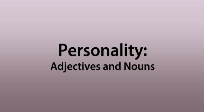 Phonetics-Personality---adjectives-and-nouns